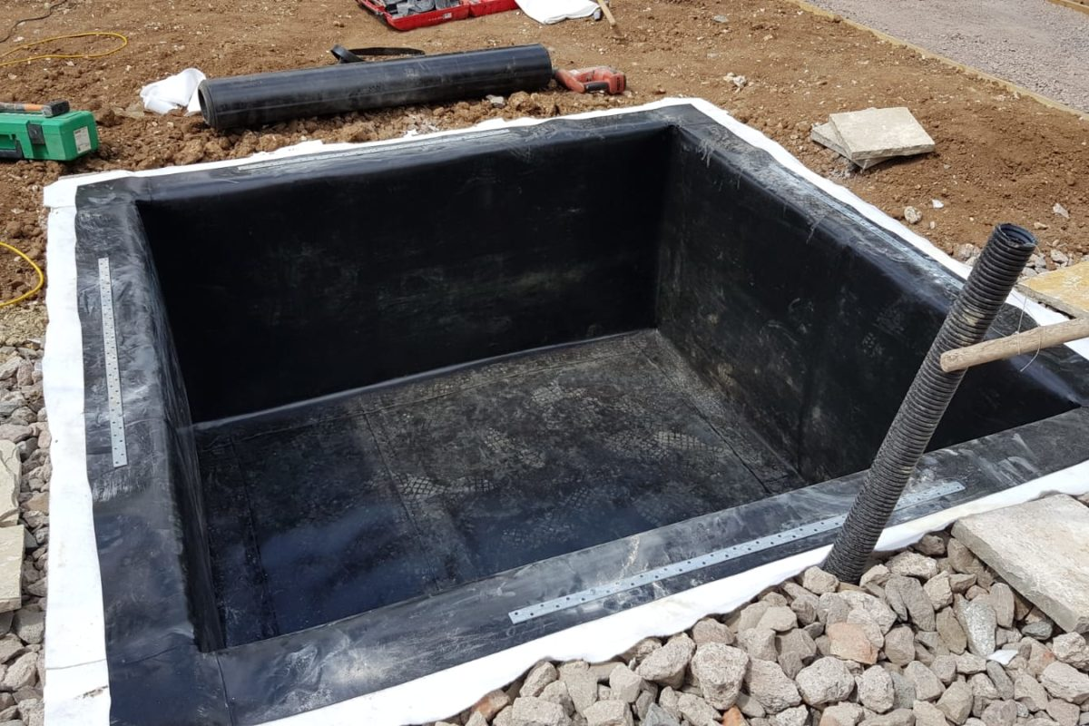 Acrefield Solutions Lift Pit Liner; a bespoke cost effective liner for every client's needs.